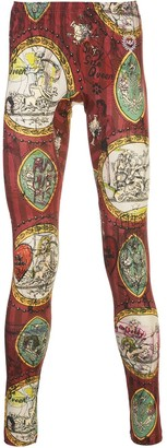 Vivienne Westwood Baseball wallpaper-print leggings