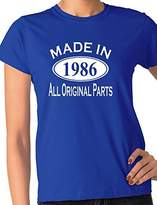 Print4u 30th Birthday Made In 1987 Gift Ladies T-Shirt Ladies Fit Large