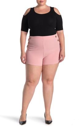 Planet Gold High Rise Sailor Shorts (Plus Size)