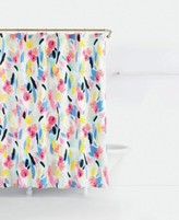 Kate Spade Paintball Cotton Floral-Print Shower Curtain