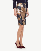 Ann Taylor Petite Jungle Cat Pencil Skirt