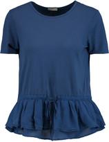 Clu Silk-trimmed cotton and modal-blend jersey T-shirt