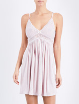 Eberjey Colette jersey and stretch-lace chemise