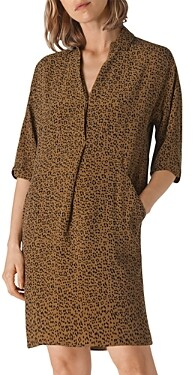 Whistles Lola Ikat-Animal Print Dress