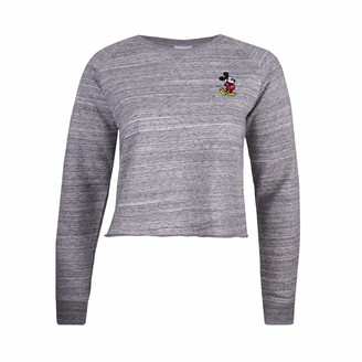 Disney Women's Mickey Mouse Left Chest EMB Sweatshirt
