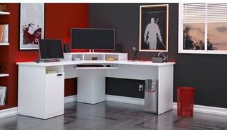 Ebern Designs Wolters L-Shape Computer Desk Color: White