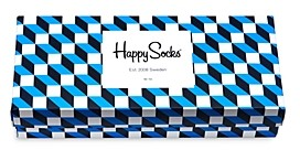 Happy Socks Filled Optic Gift Box - Set of 4 Socks (58% off)- Comparable value $48