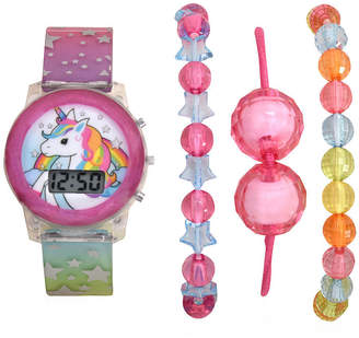 Character Girls Digital Multicolor 4-pc. Watch Boxed Set-Atc40002jc