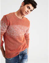 Aeo AE ACID WASH CHEST STRIPE SWEATER