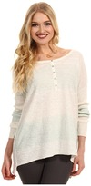 Free People Gold Rush Henley (Mint/White Combo) - Apparel