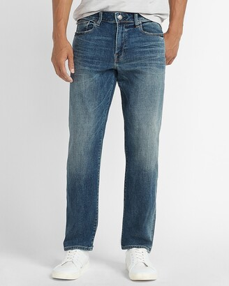 Express Relaxed Faded Dark Wash Jeans