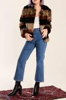 Tularosa Stripe Fur Jacket