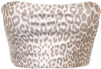 Terra Dea Full Bust - Loco Reversible Bikini Top - Leopard/White