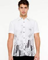 Le Château Cotton Blend Print Shirt