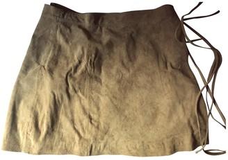 Asos Beige Leather Skirt for Women