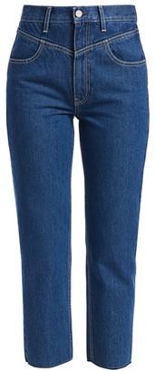 TRAVE Heidi High-Rise Crop Straight-Leg Jeans