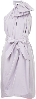Martin Grant Halterneck Ruffled Dress