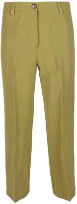 Etro Lime Green Linen-viscose Blend Trousers