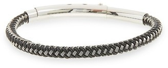 Jean Claude Braided Leather Stainless Steel Bracelet