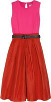 Azure stretch cotton-drill dress