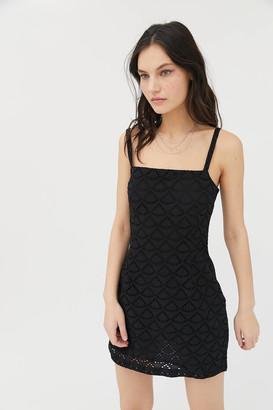 Urban Outfitters Wilma Eyelet Bodycon Mini Dress