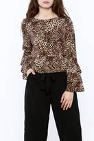 Glamorous Leopard Ruffle Top