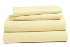 Addy Home Fashions Addy Home 4- Piece Solid Cotton Percale Sheet Set, King Bedding