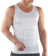 TopTie Mens Slimming Body Shaper Vest Shirt Abs Abdomen Slim-S