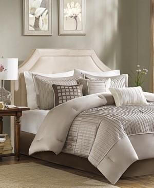 Madison Home USA Trinity Charmeuse 7-Pc. California King Comforter Set Bedding