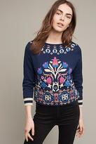 Monogram Floral Intarsia Sweatshirt