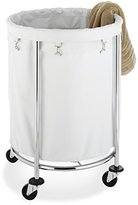 Whitmor Commercial Round Laundry Hamper, White