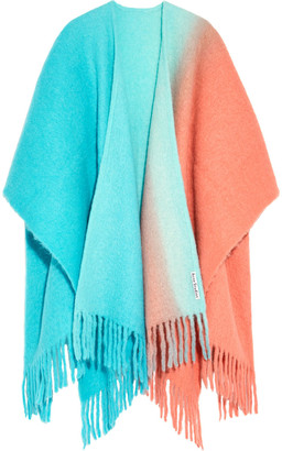 Acne Studios Kelow Fringed Degrade Brushed Knitted Wrap