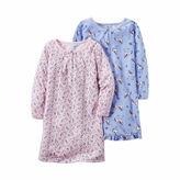 Carter's Girls Long Sleeve Nightgown-Preschool