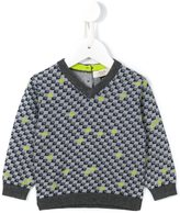 Armani Junior logo intarsia jumper