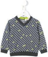 Armani Junior logo intarsia jumper