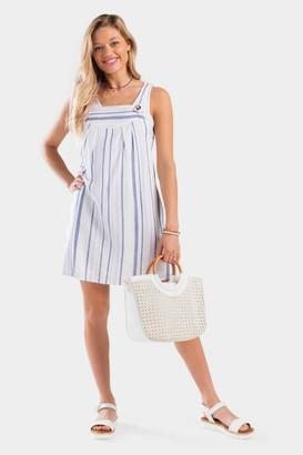 francesca's Anissa Stripe Shift Dress - White