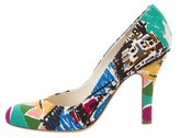 Prada Printed Canvas Pumps