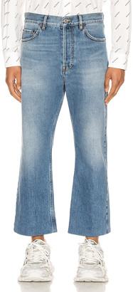 Balenciaga Cropped Jeans in Light Vintage Indigo | FWRD