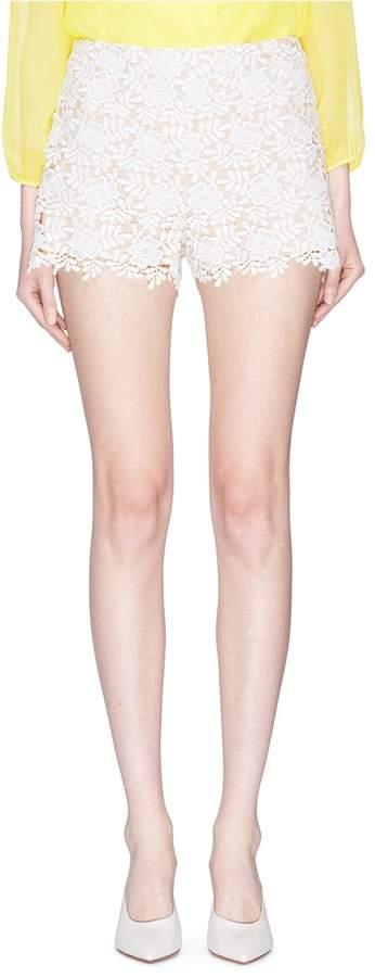 Alice + Olivia 'Marisa' floral guipure lace shorts