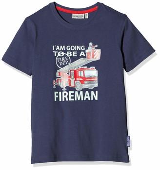 Salt&Pepper Salt & Pepper Boy's Druck Mit Feuerwehrauto Applikation T-Shirt
