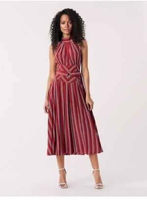 Diane von Furstenberg Nicola Silk Crepe De Chine Midi Dress