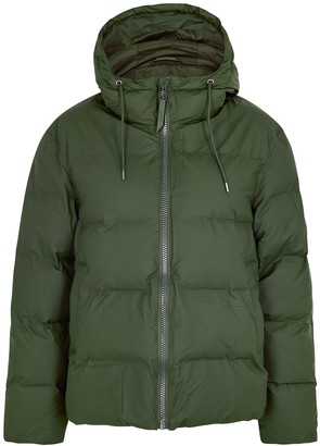 Rains Forest Green Quilted Shell Jacket