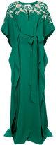 Oscar de la Renta neck embroidered gown