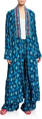 Figue Iznik Ikat Kimono Coat