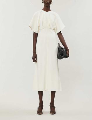 Victoria Beckham Batwing-sleeve crepe midi dress