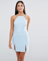 Rare Square Neck Mini Dress With Split Detail