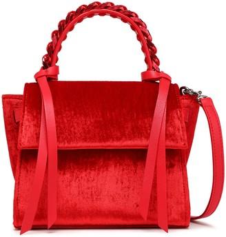 Elena Ghisellini Angel Chain-trimmed Velvet Shoulder Bag