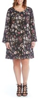 Karen Kane Plus Size Women's Taylor Floral A-Line Dress