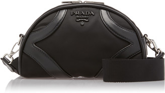 Prada Half Moon Nylon Crossbody Bag
