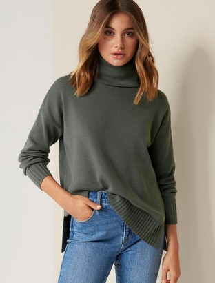 Forever New Madison Roll-Neck Jumper - Sage - xs